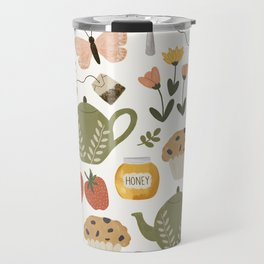 Afternoon Tea Time in the Garden Travel Mug