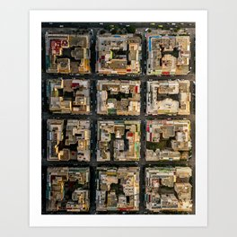Blocks of Athens Art Print