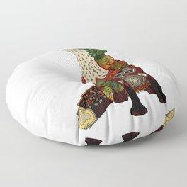 fox love off white Floor Pillow