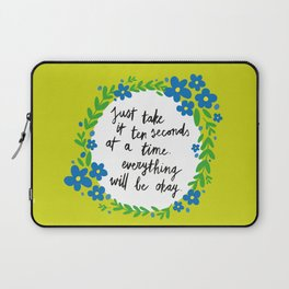 Ten Seconds - Lime Laptop Sleeve