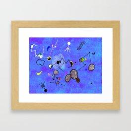 Blue Miro Framed Art Print