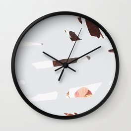 Abstract Spring Wall Clock