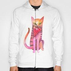 pet cat with precious prey Hoody