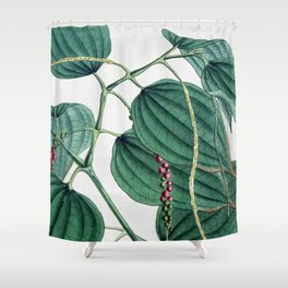 Green leaves I Shower Curtain
