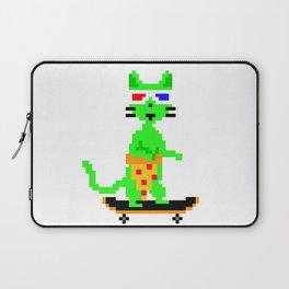 """Psychedelic Skateboarding Pixel Pizza Cat"", by Brock Springstead Laptop Sleeve"