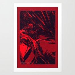 Neon Butterfly stg 03 Art Print