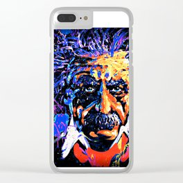 Einstein In Thought Clear iPhone Case