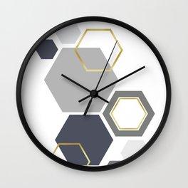 Hexagons fashion III Wall Clock