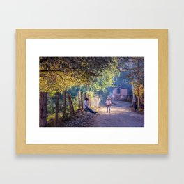 Quiet Mexico Road Afternoon, Cooper Canyons Framed Art Print