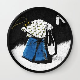 Casual Hipster Outfit Wall Clock
