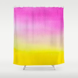 Abstract painting in modern fresh colors Shower Curtain