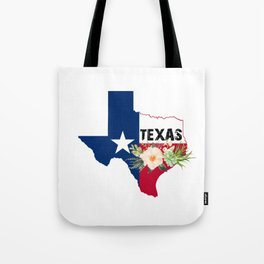 Texas Watercolor Flowers Texan State product Tote Bag