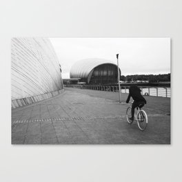 cycling around the science centre Canvas Print