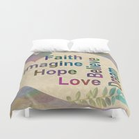 inspirational Duvet Covers featuring Inspirational by LLL Creations