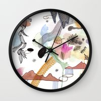 new year Wall Clocks featuring New Year by Brooke Weeber