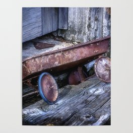 Left and Forgotten a little red wagon Poster