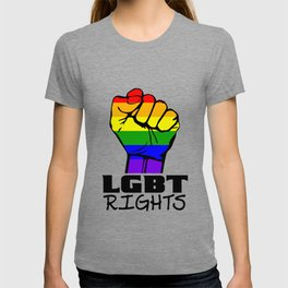 Stand for lgbt rights fist. T-shirt