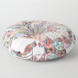 New Orleans map landscape Floor Pillow