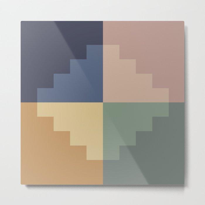 Geometric Color Block VIII Metal Print