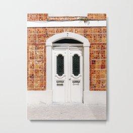 The white door of Cascais | Lisbon Portugal fine art travel photography print Metal Print