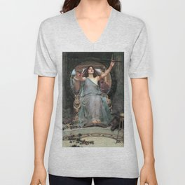 John William Waterhouse - Circe Offering the Cup to Ulysses Unisex V-Neck