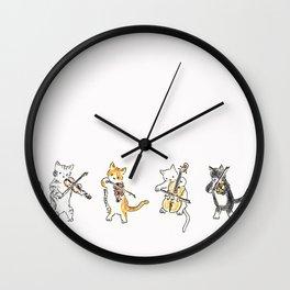 String Meowtet Wall Clock