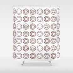 Geometry Shapes Shower Curtain