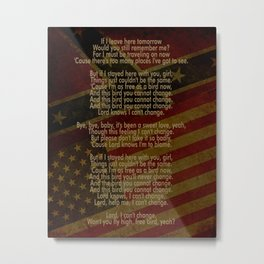 Free Bird | Lynard Skynard Inspired Song Lyric Art Print Metal Print