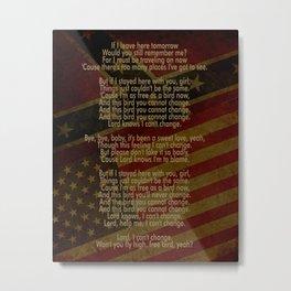Free Bird | Lynard Skynard Inspired Song Lyric Art Print Metal Print