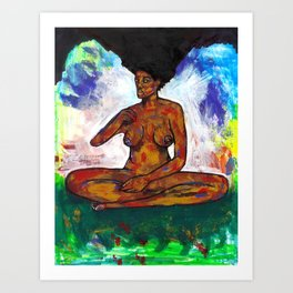 2020 Over Standing Meditation Peace by Marcellous Lovelace Art Print