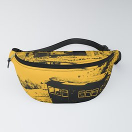 Pittsburgh Incline Black and Gold Print Fanny Pack