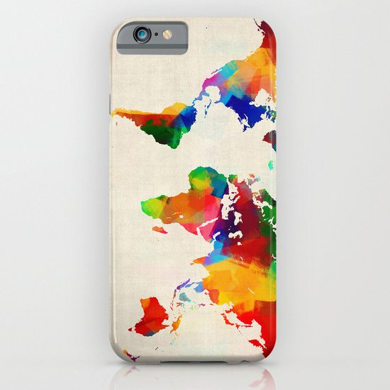 Map of the World Map Painting iPhone & iPod Case