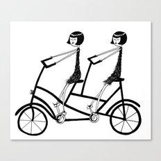 tandem bicycle Canvas Print
