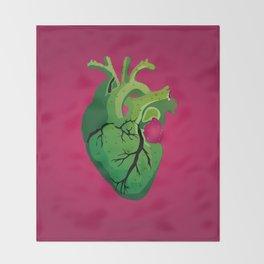 Corazón de Nopal | Cactus Heart Throw Blanket