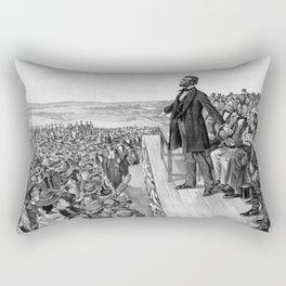 President Lincoln Delivering The Gettysburg Address Rectangular Pillow
