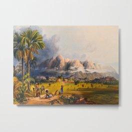 Esmeralda On The Orinoco Illustrations Of Guyana South America Natural Scenes Hand Drawn Metal Print