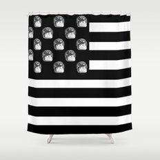US Minifigure Flag - Horizontal Shower Curtain