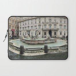 3 legged man in Piazza Navona Rome Italy Laptop Sleeve