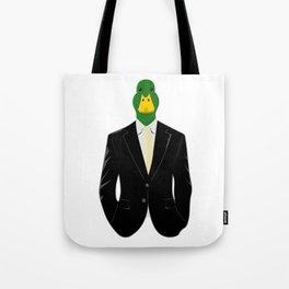 Duck in Suit Tote Bag