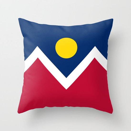 Denver, Colorado city flag - Authentic High Quality Throw Pillow