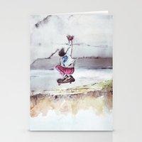 skate Stationery Cards featuring Skate by Nuez Rubí