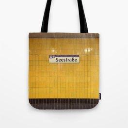 Berlin U-Bahn Memories - Seestraße Tote Bag