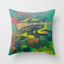A poets mind Throw Pillow