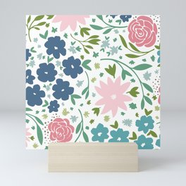 Enchanting Flower Patterns Mini Art Print