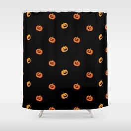 Halloween pumpkins - Black Shower Curtain