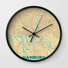 Hamburg Map Retro Wall Clock