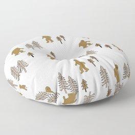 Sasquatch forest woodland mythic animal nature pattern cute kids design forest Floor Pillow