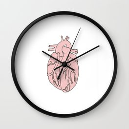 a simple heart Wall Clock