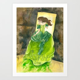 The Absinthe Dress Art Print