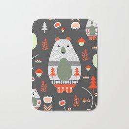 Christmas bears and birds Bath Mat